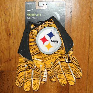 Nike Vapor Jet Pittsburgh Steelers Football Gloves